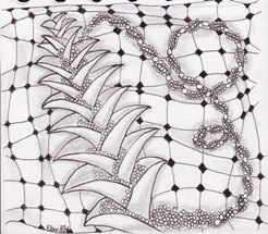 Andächtig kucke ich immer mal in der Gruppe Square One: Pure Zentangle