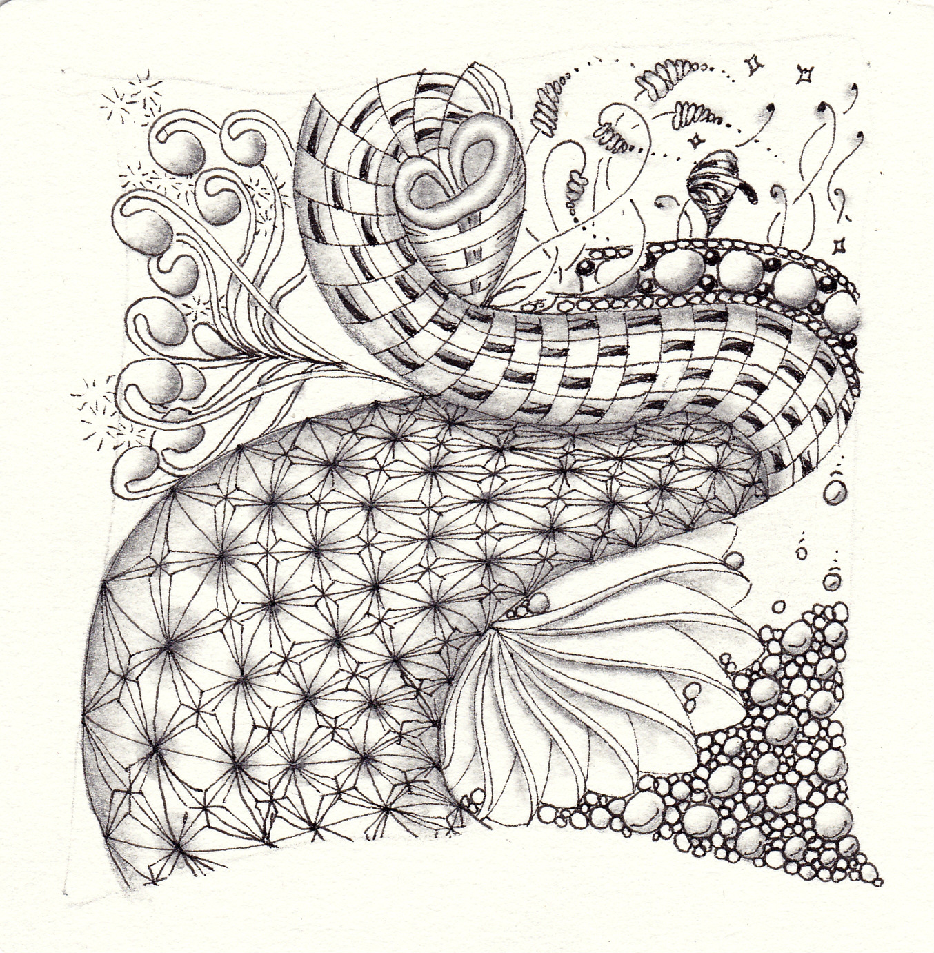 Text und Zentangle inspired art von Ela Rieger