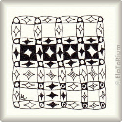 Zentangle-Pattern 'Alhambra' by Lily Moon, presented by www.ElaToRium.de