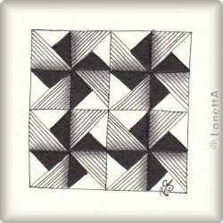 Zentangle-Pattern 'Amalea' by Chrissie Frampton, presented by www.ElaToRium.de