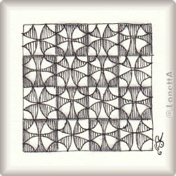 Zentangle-Pattern 'Dyzzee' by Susan Goetter, presented by www.ElaToRium.de