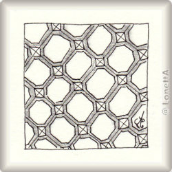 Zentangle-Pattern 'Hex-Weve' by Val Brandon, presented by www.ElaToRium.de