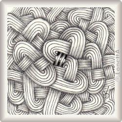 zentangle pattern jaysix by eni oken czt presented by wwwelatorium - Zentangle Muster