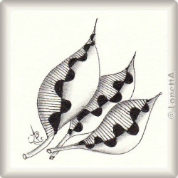Zentangle-Pattern 'Plum Leaf' by Suzanne McNeill CZT, presented by www.ElaToRium.de