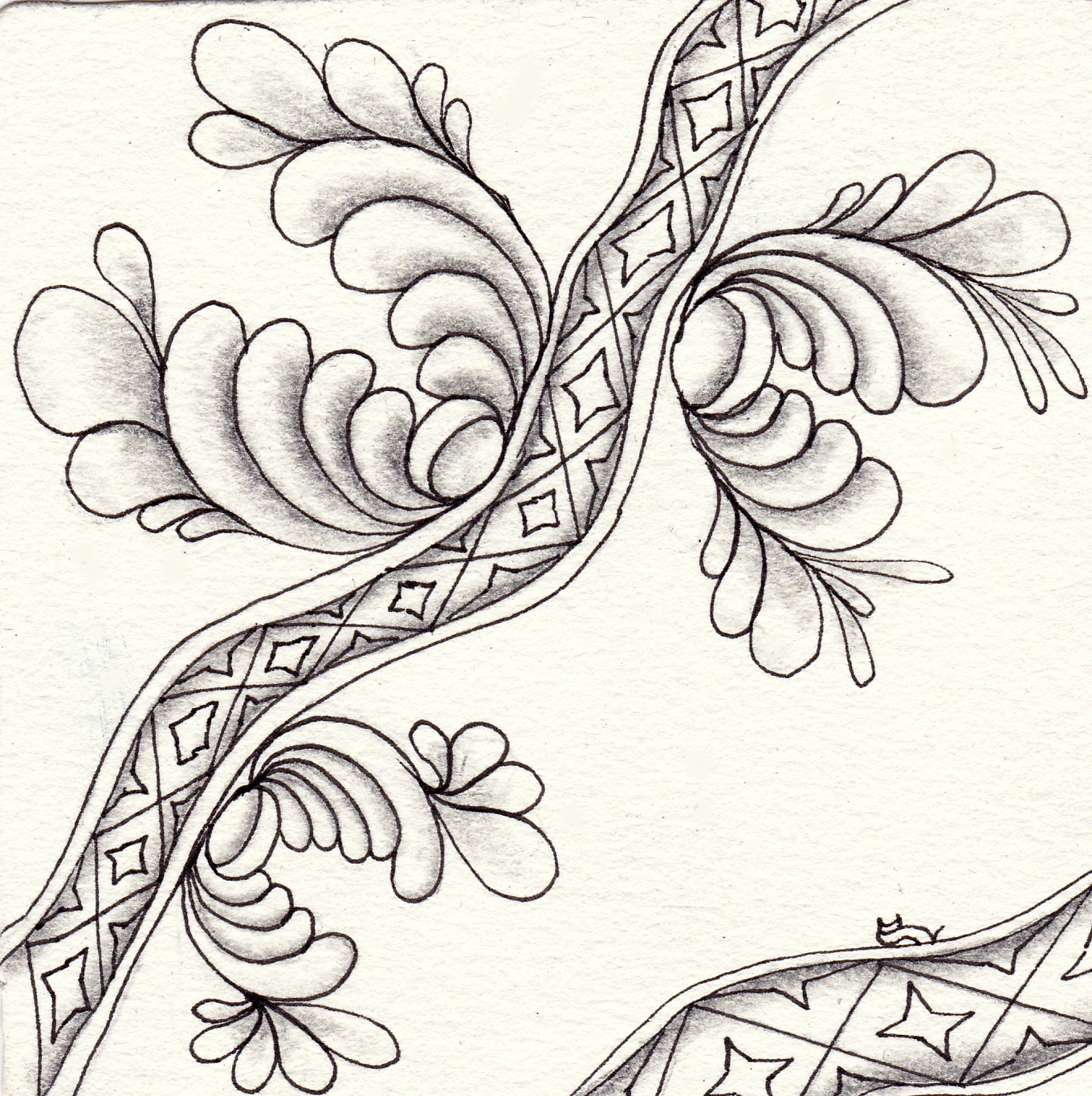 für Jane Dickinsons Weekly Zentangle Video