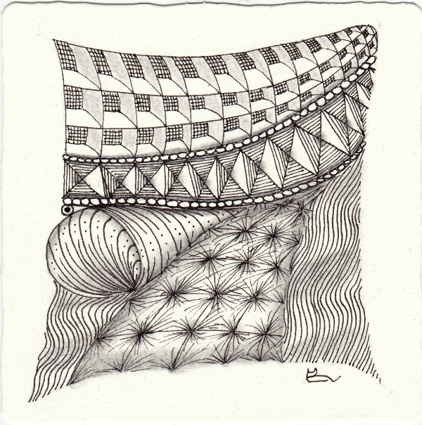 just Zentangle - for the Diva Challenge #250
