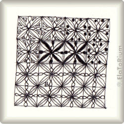 Zentangle-Pattern 'Calix' by Judy Murphy , presented by www.ElaToRium.de