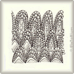 Zentangle-Pattern 'Decodomes' by Neil Burley, presented by www.ElaToRium.de