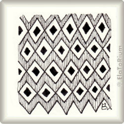 Zentangle-Pattern 'Diamond Panes' by Margaret Bremner CZT, presented by www.ElaToRium.de