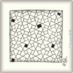 'Eaxy' by Nadine Roller CZT, pattern for Zentangle® and Zentangle® inspired art, presented by ElaToRium