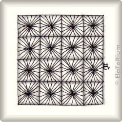 Zentangle-Pattern 'Faux-cets' by Katie Booth, presented by www.ElaToRium.de