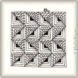 Zentangle-Pattern 'Gadroon' by Sandra Strait, presented by www.ElaToRium.de