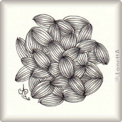 Zentangle-Pattern 'Garlic Cloves' by Jacquelien Bredenoord, presented by www.ElaToRium.de