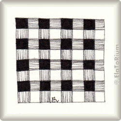 Zentangle-Pattern 'Gingham' by Margaret Bremner CZT, presented by www.ElaToRium.de