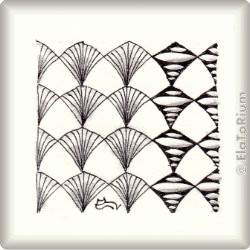Zentangle-Pattern 'Gothic' by Mariet Lustenhouwer, presented by www.ElaToRium.de
