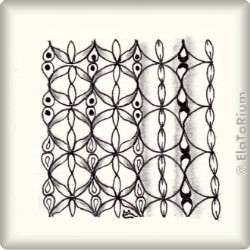 Zentangle-Pattern 'Grid Lock' by Cindy Angiel, presented by www.ElaToRium.de