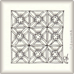 Zentangle-Pattern 'Hastings' by Melinda Butcher, presented by www.ElaToRium.de