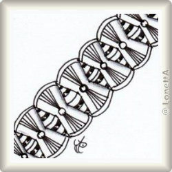 Zentangle-Pattern 'Hitched' by HeidiSue Whitney, presented by www.ElaToRium.de