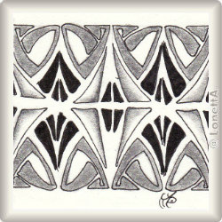 Zentangle-Pattern 'Jugendstil' by Neil Burley, presented by www.ElaToRium.de