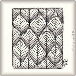 Zentangle-Pattern 'Leaflet' by Helen Williams, presented by www.ElaToRium.de