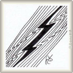 Zentangle-Pattern 'Lightning Bolt' by Suzanne McNeill CZT, presented by www.ElaToRium.de