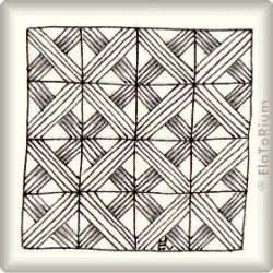 Zentangle-Pattern 'Navaho' by Caren Mlot CZT, presented by www.ElaToRium.de