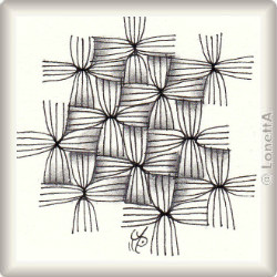 Zentangle-Pattern 'Raffia' by Neil Burley, presented by www.ElaToRium.de