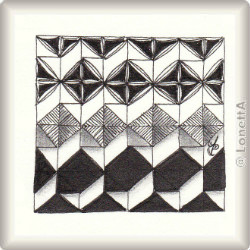 'Rautyflex' by Kathrin Bendel CZT,  pattern for Zentangle® and Zentangle® inspired art, presented by ElaToRium.