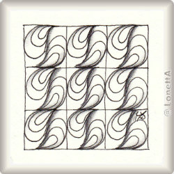 Zentangle-Pattern 'Ripples' by Helen Williams, presented by www.ElaToRium.de