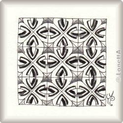 Pattern for Zentangle® and Zentangle® inspired art 'Siri' by Simone Menzel CZT, presented by www.Musterquelle.de