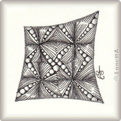 Zentangle-Pattern 'Ta-da' by Margaret McKerihan, presented by www.ElaToRium.de