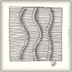 Zentangle-Pattern 'Veinz' by Lizzie Mayne, presented by www.ElaToRium.de