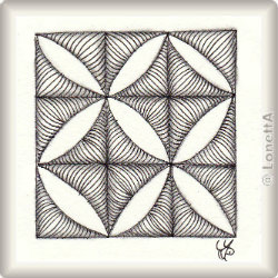 Zentangle-Pattern 'Vercut' by JJ LaBarbera, presented by www.ElaToRium.de