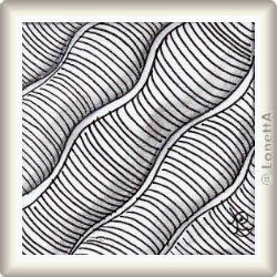 Zentangle-Pattern 'Waves' by Suzanne McNeill CZT, presented by www.ElaToRium.de