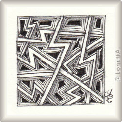 Zentangle-Pattern 'Ziggurat' by Sandra Strait, presented by www.ElaToRium.de