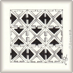 Pattern for Zentangle® and Zentangle® inspired art 'Zimba' by Ria Matheussen CZT, presented by www.Musterquelle.de